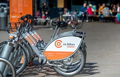 Image of electric bikes